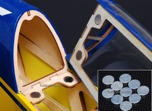 Forti delle terre rare Button Magneti (10pcs / set)