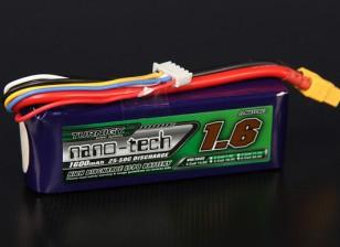 Turnigy nano-tech 1600mAh 4S 25 ~ 50C Lipo Confezione