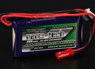 Turnigy nano-tech 460mAh 2S 25 ~ 40C Lipo Confezione