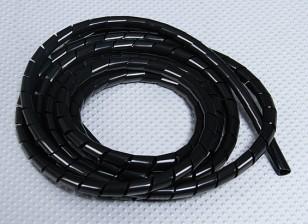 Avvolgimento a spirale del tubo ID 3mm / OD 4mm (nero - 2m)