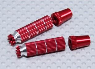 Lega Anti-Slip TX controllo Sticks lungo (JR TX Red)