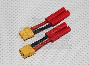 HXT 4mm a XT-60 adattatore batteria (2pcs / bag)