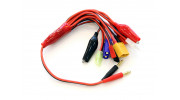 9 in 1 Multi Connector Charge Lead w/4mm Banana Plugs (15cm) 1