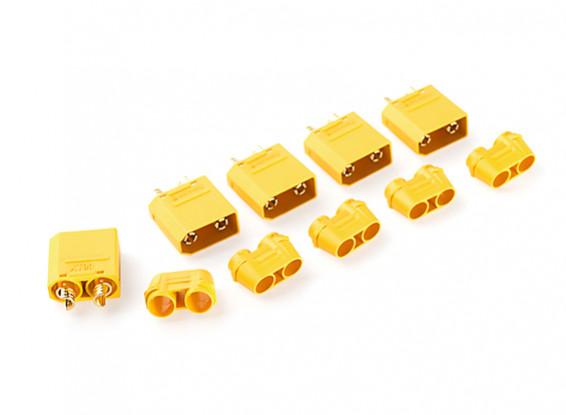 Nylon XT90 Connectors Male With End Cap (5 pcs/bag) Yellow