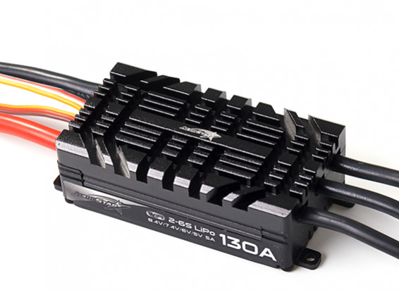 AeroStar WiFi 130A Brushless ESC with 5A BEC (2~6S)