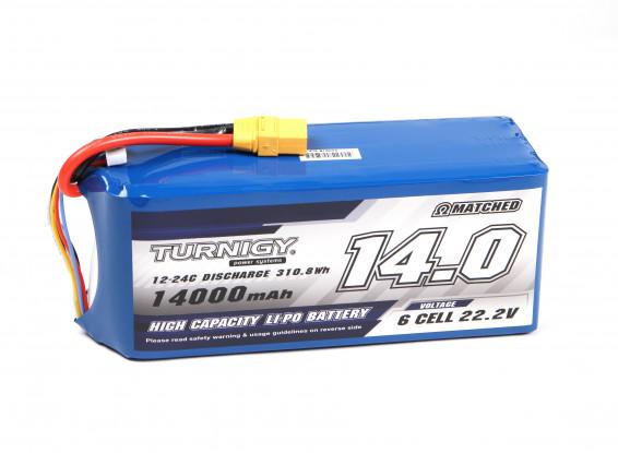 Turnigy High Capacity 14000mAh 6S 12C Multi-Rotor Lipo Pack w/XT90