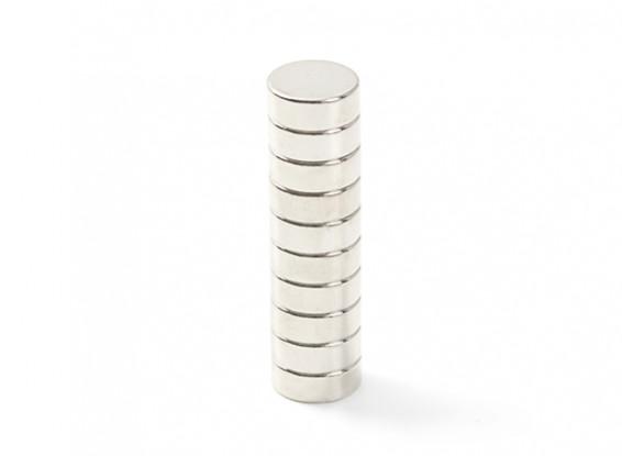Neodymium Button Magnet 8x3mm (10pcs)