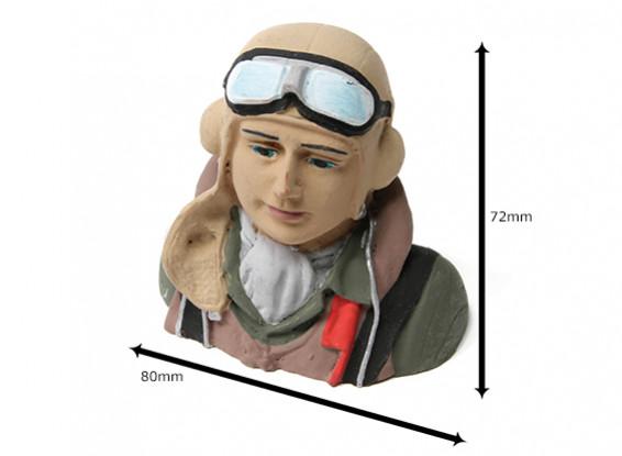 Второй мировой войны Европейский Pilot (H70 х W78 х D38mm)