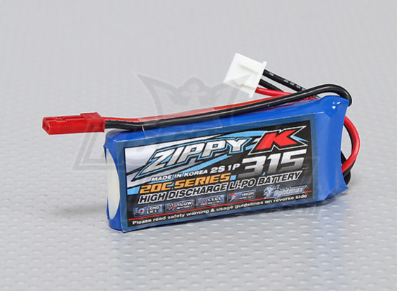 Батарея Zippy-K Flightmax 315mah 2S1P 20C LiPoly