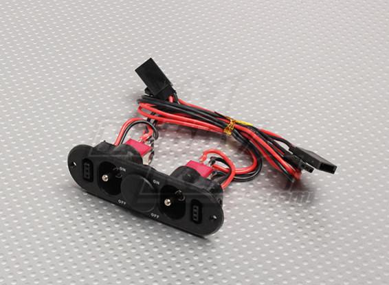 Тяжелое переключатель Обязанность RX Твин с Порт-Charge & Fuel Dot Blank