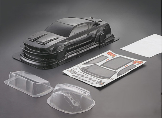 1/10 Mustang GT350 углеродного волокна Стиль автомобиля Shell кузова (190мм)
