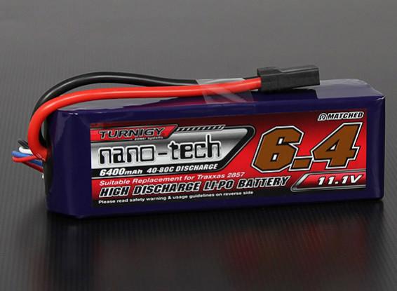 Turnigy нано-технологий 6400mAh 3S 40 ~ 80C Lipo Pack (Stampede / Rustler / Бандит совместимый)