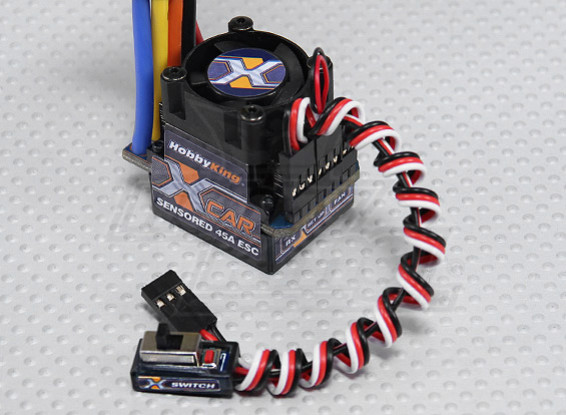 HobbyKing® ™ X-Car 45A Brushless ESC автомобилей (Sensored / бессенсорный)