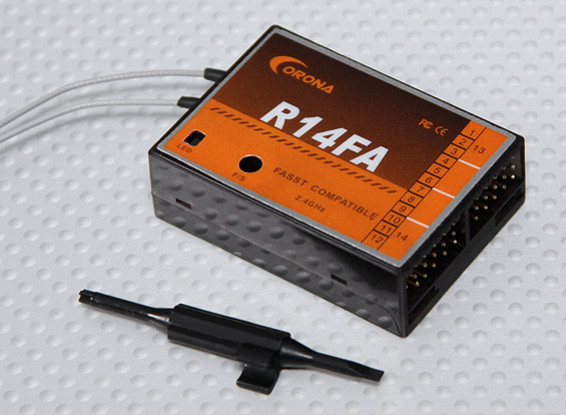 Corona R14FA 2.4Ghz FASST Совместимость Reciver