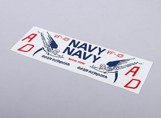 ВМС США Мрачные Жнецы для EDF Jet (синий) - 105mmx70mm главный знаки