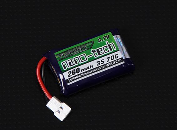 Turnigy нано-технологий 260mAh 1S 35-70C Липо Pack (QR Ladybird / Genius CP / Mini CP)