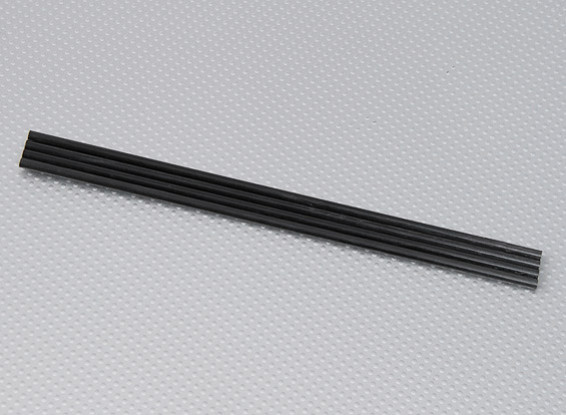 Turnigy HAL углеродного волокна Вертикальная посадка Skid Rod 5 мм х 250 мм (4 шт / мешок)