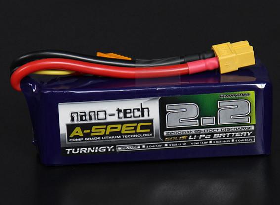 Turnigy нано-технологий A-SPEC 2200mAh 4S 65 ~ 130C Липо пакет