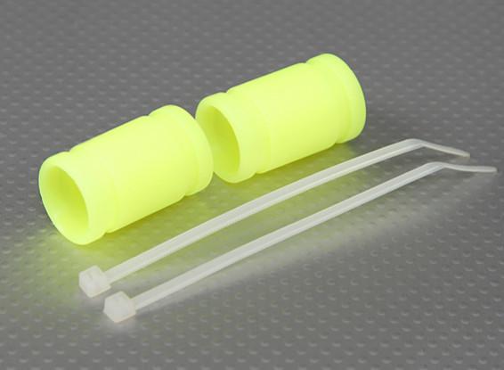 Силиконовые Выхлопная муфта 40x15mm (желтый) (2Pcs / мешок)