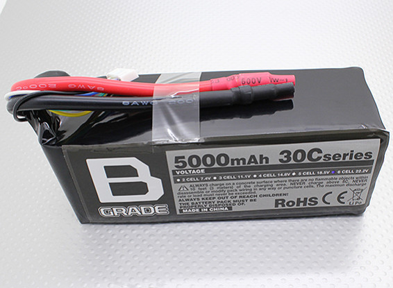 Аккумулятор B-Ранг 5000mAh 6S 30C LiPoly
