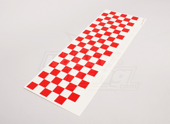 Декаль лист Chequer Pattern Red / Clear 590mmx180mm