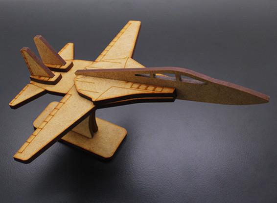 Военный реактивный самолет Лазерная резка Вуд модель (KIT)