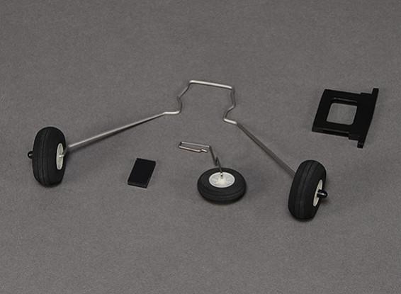 Hobbyking Бикслер и Бикслер 2 Шасси Установить ж / хвостовым колесом