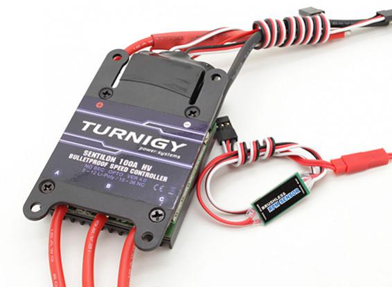 Turnigy Sentilon В4 100A 5-12s HV Bulletproof контроллер скорости ж / датчиком скорости вращения барабана