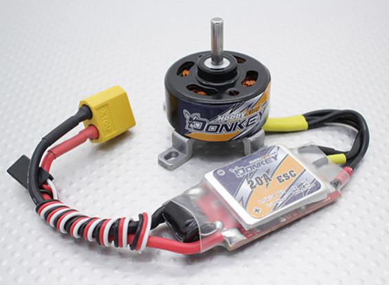 HobbyKing ™ Осел ST3007-1100kv Brushless Power System Combo