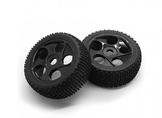 Hobbyking 1/8 Шкала K Spec Star Spoke Wheel / 17мм шин Hex (черный)
