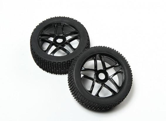 HobbyKing® 1/8 Star Black Wheel & Off-дорога шины 17мм Hex (2pc)