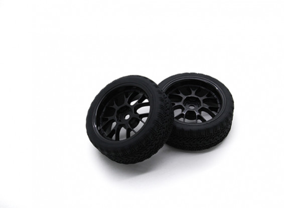Hobbyking 1/10 колеса / комплект колес AF ралли Y-Spoke (черный) RC автомобилей 26мм (2шт)