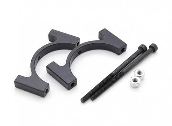 Черный анодированный CNC Алюминиевая пробка Зажим 28мм Диаметр
