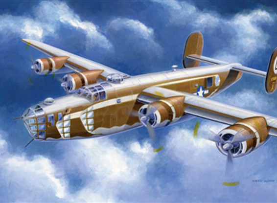 Italeri 1/72 шкала B-24D Liberator Plastic Model Kit