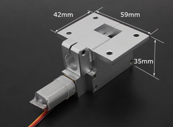 Все металлы Servoless 90 градусов Отвод для больших моделей (6кг) W / 12.7мм Pin