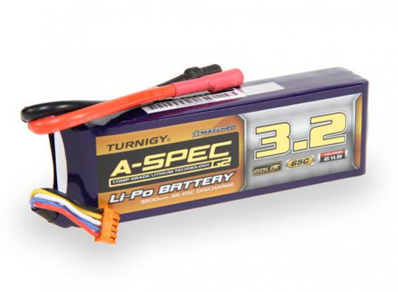 Turnigy нано-технологий A-SPEC G2 3200mAh 4S 65 ~ 130C Липо пакет