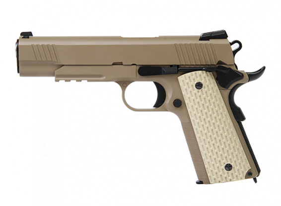WE 1911 Кимбер стиль GBB пистолет (Desert Tan)