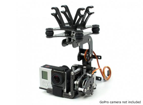 HobbyKing Бесщеточный ActionCam Gimbal С 2208 Motors и 3K Carbon Конструкция
