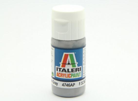 Italeri Акриловая краска - Плоский средний серый