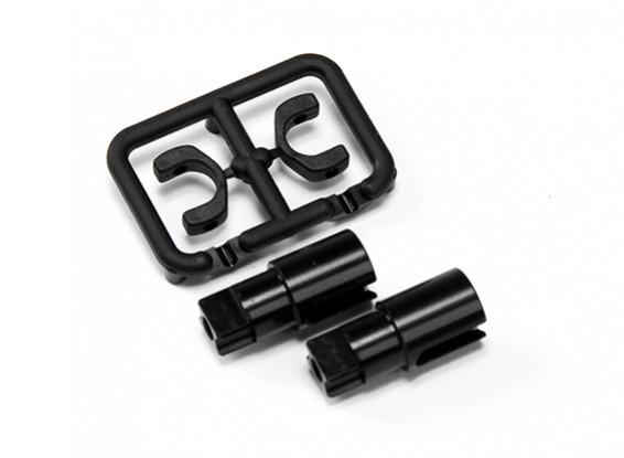 XRAY T4 2014 1/10 Touring Car - алюминиевые Solid мост Driveshaft адаптеры (2) - Жесткий покрытием