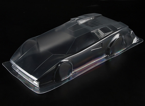 Countach LP500 1/10 Clear Body Shell