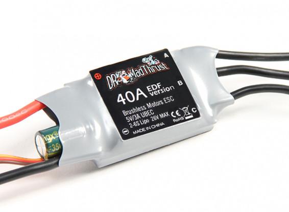 Д-р Mad Thrust 40A ESC для EDF