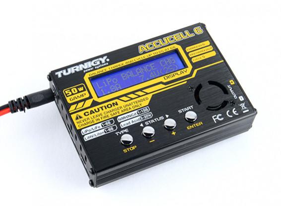 Turnigy Accucell-6 50W 6A Balancer / зарядное устройство LiHV Способные