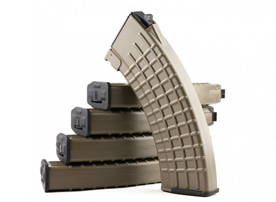 King Arms 600rounds Вафельные шаблонных журналы для Marui AK AEG (Dark Earth, 5pcs / коробка)