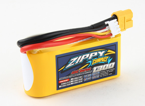ZIPPY Компактный 1300mAh 3s 40c Lipo обновления