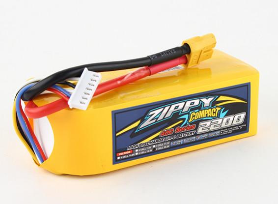 ZIPPY Компактный 2200mAh 6s 40c Lipo обновления