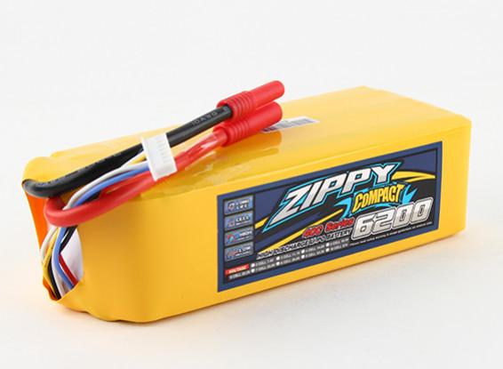 ZIPPY Компактный 6200mAh 6s 40c Lipo обновления