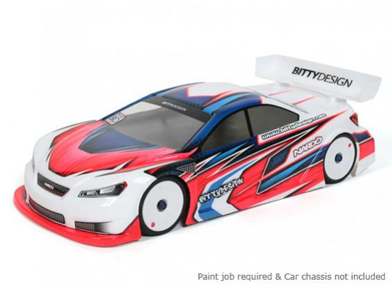 Bittydesign Нардо 190мм 1/10 Touring Car Racing Body (ГООР утвержден)