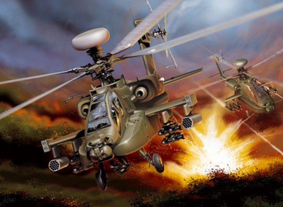 Italeri 1/48 Scale AH-64D Apache Longbow Plastic Model Kit