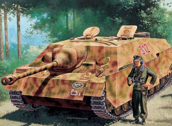 Italeri 1/35 Масштаб SD.KFZ.162 Jagdpz. IV Ausf. FL / 48 в конце Kit Пластиковые модели